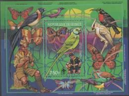 Guinea. Boy Scouts, Parrot, Butterfly. 1988.  MNH SS. SCV = 9.00 - Unclassified