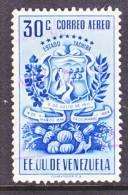 Venezuela  C 377  FAULT   (o)  ARMS Of  TACHIRA - Venezuela