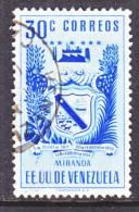Venezuela  511    (o)  ARMS Of  MIRANDA - Venezuela