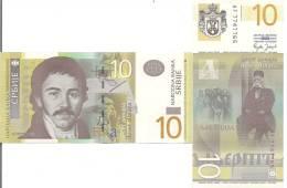 Serbia P46 10 Dinars, Vuk Stefanović Karadžić; 1st Slavic Congress - Vertical - Serbia