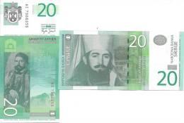 Serbia P47 20 Dinars, Petar II Njegoš, Prince Bishop Of Montenegro - Vertical - Serbia