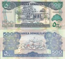 Somaliland P-6b 500 Shillin,  Bank /  Sheep, Port Of Berbera With Ship $10 CV! - Banknotes