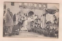 D52278 Postcard Vintage Morocco Marche De Faiences Indigene. 57. Vve Petit Maagan, Used - Tanger