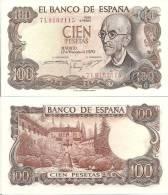 Spain P-152a, 100 Pesetas, Manuel De Falla / Home Of Moorish Kings $15CV - [ 3] 1936-1975: Franco