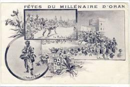 Carte Postale Ancienne Algérie - Oran. Fêtes Du Millénaire - Oran