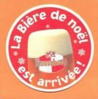 Bierviltje / Sous Bock / Beer Coaster Kronenbourg - Bière De Noël (from Belgium) - Sous-bocks