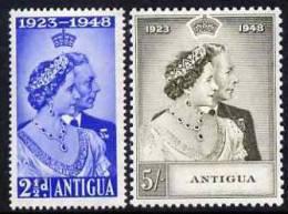 81113 - Antigua 1949 KG6 Royal Silver Wedding Set Of 2 Unmounted Mint SG 112-3 - Postzegels
