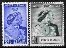 91557 - British Virgin Islands 1949 KG6 Royal Silver Wedding Perf Set Of 2 Mounted Mint, SG 124-5 - Stamps