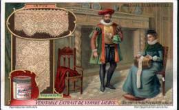 CHROMO - LIEBIG - HISTOIRE DE LA DENTELLE - DENTELLIERE DU PUY AU XVIe SIECLE - Liebig