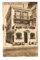 CPA -06 - Alpes Maritimes : Nice : Hotel Axa : 213 ,Promenade Des Anglais : Entrée , Terrasses ... - Cafés, Hotels, Restaurants