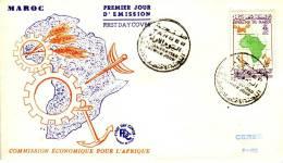 FDC Commission économique Pour L´Afrique, Tanger, 31/1/1960 (timbre YT N° 396) - Maroc (1956-...)
