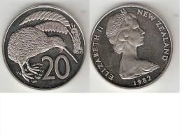 New Zealand 20 Cents 1982 Pionted 2  Km 36.1  Proof !!! - Nouvelle-Zélande
