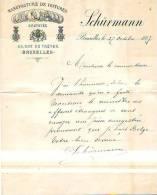 Bruxelles - 1887 - Schürmann - Manufacture De Voitures - Cars