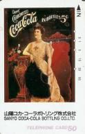 TARJETA DE JAPON DE COCA-COLA (COKE) MUJER VESTIDO CLASICO-SANYO - Publicidad