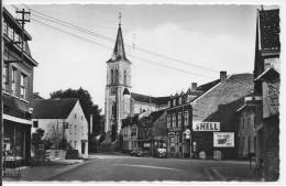 BARVAUX  L´église GARAGE SHELL Cachet 1955 - Durbuy