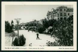 VILA REAL DE ST. ANTÓNIO / FARO / ALGARVE / PORTUGAL - POSTAL VISTA PARCIAL DO JARDIM. REAL PHOTO  Old  Postcard - Faro