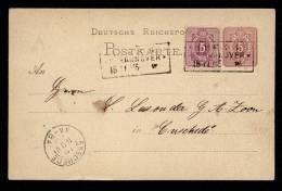 Germany - 18-11-1875 - Postcard - Postkarte Mi P 5 II + Mi 32 - Used Hannover To Enschede Netherlands - Duitsland