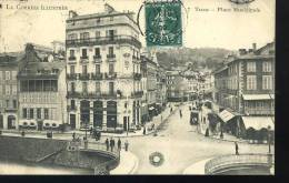 Cpa **     TULLE 1909- Place Municipale - Tulle