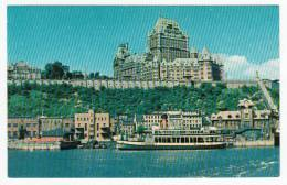 Vue De Québec De Lévis - Château Frontenac - Traversier Ferry Boat Bateau - Neuve - Québec - Château Frontenac