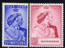 77319 - Montserrat 1949 KG6 Royal Silver Wedding Perf Set Of 2 Unmounted Mint, SG 115-6 - Stamps