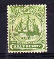 Turks & Caicos Islands - 1905 - ½d Definitive (Watermark Multiple Crown CA) - MH - Turks- En Caicoseilanden