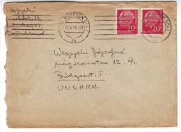 Germany 1956 München BPA 1, Letter To Budapest,Hungary - [7] Federal Republic
