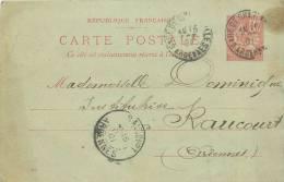 08 RAUCOURT CARTE LETTRE ADRESSEE A L'INSTITUTRICE DE RAUCOURT ENVOYEE DE CHARLEVILLE - Other Municipalities