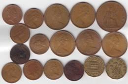 @Y@   Groot Britannië   Lot Munten See Scan   ( GB 8) - 1971-… : Monnaies Décimales