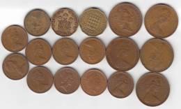 @Y@   Groot Britannië   Lot Munten See Scan   ( GB 9) - 1971-… : Monnaies Décimales