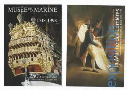 12072 - 5 CARTES MUSEE DE LA MARINE (Voir Scan) - Militaria