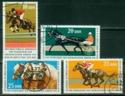 DDR  1974  Intern. Kongress Für Pferdezucht  (4 Ggest. (used) Kpl. )  Mi: 1969-72 (2,60 EUR) - [6] République Démocratique