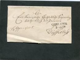 Deutschland Brief 1828 Coblenz - ...-1849 Vorphilatelie