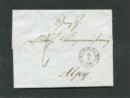 Deutschland Brief 1843 Friedberg - ...-1849 Vorphilatelie