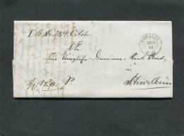 Deutschland Brief 1863 Coeslin - ...-1849 Vorphilatelie