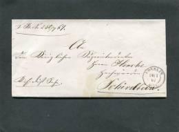 Deutschland Brief 1867 Coeslin - ...-1849 Vorphilatelie