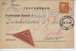 POSTFÖRSKOTT REMBOURSEMENT  TRYCSAKER  AÑO 1934 STOCKHOLM   LARF  SUECIA  OHL - Sweden
