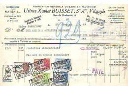 Vilvorde - 1946 - Usines Xavier Buisset - Fabrication Générale D'objets En Aluminium - Belgique
