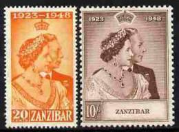 91575 - Zanzibar 1949 KG6 Royal Silver Wedding Perf Set Of 2 Mounted Mint, SG 333-34 - Stamps