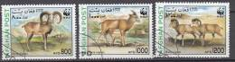 1998 AFGHANISTAN, ANIMALS, 3 PIECES, USED VF - Afghanistan