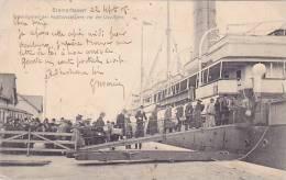 CPA ALLEMAGNE BREME BREMERHAVEN Anbordgehen Der Kajütspassagiere Vor Der Lloydhalle - Bremerhaven