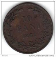 ROUMANIE, KM 4.2 1867 10 Bani. (FP48) - Roumanie