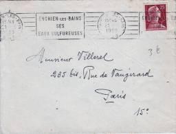 Enghien Les Bains / Ses Eaux Sulfureuses 21/06/1950 - Storia Postale