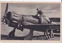 PARTENZA DI UN NOSTRO CACCIA AVIAZIONE MILITARE ITAL. - AEREO/I FLUGZEUG PLANE AVIAZIONE AVION - Paracadutismo