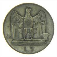 5 LIRE  ITALIA 1930 ARGENTO SILVER AQUILOTTO - 1861-1946 : Regno