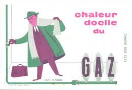 Buvard  Chaleur Docile Du Gaz - Electricité & Gaz