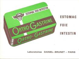 Buvard  Produit Pharmacieutique Estomac Foie Intestin Ortho-Gastrine  Laboratoire Daniel Brunet Paris - Drogerie & Apotheke