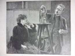 Chez Le Sculpteur , Gravure Baude D'aprés Edelfelt 1887 - Documenti Storici