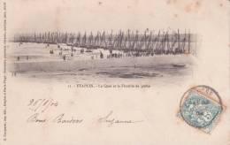 CPA 62 ETAPLES ,le Quai Et La Flotille De Pêche. (animée) 1904. - Etaples
