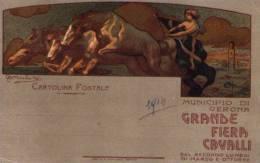 Cartolina GRANDE FIERA CAVALLI Municipio VERONA Ill.Miolato 1914 - Esposizioni