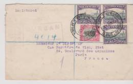 South Africa Lettre Recommandée De 1933 Durban - Südafrika (...-1961)